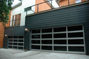 contemporary style glass garage door mesa az